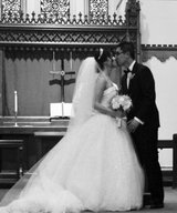white full wedding dress and veil in Camp Lejeune, North Carolina