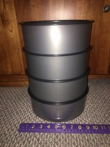 """RARE!  Tupperware """"Stainless Steel""""-look Plastic Storage Containers in Bolingbrook, Illinois"""