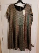 New with tags M. Kors dress- black and gold colors. Size 3x. Firm price in Warner Robins, Georgia