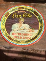 1977 75th Anniversary Coca-Cola serving trays in El Paso, Texas
