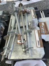 TITAN DECK FOOT ANCHOR,BRACKETS,PLATES AND AUGER in Travis AFB, California