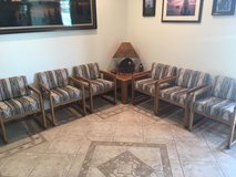 Waiting room furniture six chairs and two corner tables in Alamogordo, New Mexico