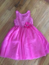 Girls pink dress size seven in Tinley Park, Illinois