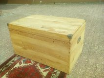 Rare antique softwood chest with original lock & removable compartment XXL in Wiesbaden, GE