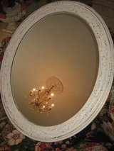 large vintage oval mirror with tiny roses in Westmont, Illinois