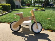 Wooden Balance bike made by Treehaus in Fort Campbell, Kentucky