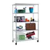 "TRINITY EcoStorage 5-Tier Wire Shelving Rack 47.50"" x 18.00"" x 72.00"" NSF, Includes Wheels, Chrome in Glendale Heights, Illinois"