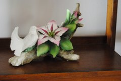 CAPODMONTE FIGURINE OF A WHITE DOVE WITH FLOWERS in Tinley Park, Illinois