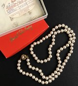 Vintage Miriam Haskell pearls in original Marshall Fields box in Glendale Heights, Illinois