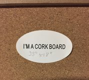 "Cork Board  33""L x 18""W - NEW in Naperville, Illinois"