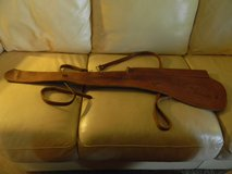 Vintage 1950's leather scabbard for rifle with scope in Batavia, Illinois