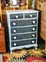 solid maple chalk painted antique dresser in Cherry Point, North Carolina