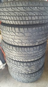 Full Set of Cooper 265/70-17 at3 tires + new spare Sale/Trade in Fort Leonard Wood, Missouri