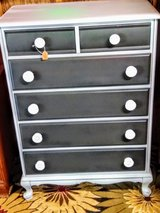 antique solid maple chalk painted dresser in Camp Lejeune, North Carolina