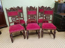 Set of 6 Carved Oak Chairs others available in Lakenheath, UK