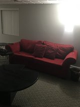 Free Red sofa/couch in Glendale Heights, Illinois