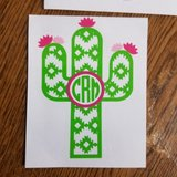 Cactus monogram decal in Byron, Georgia