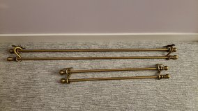Antique Gold Double Drapery Rods in Batavia, Illinois