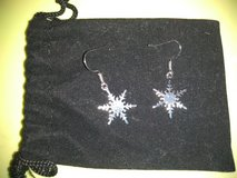Snowflake earrings in Fort Campbell, Kentucky