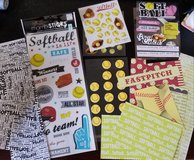 Assortment of Softball Stickers and Scraps in Naperville, Illinois