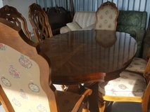 dining table with 6 chairs and buffet server(credit card accepted) in Camp Lejeune, North Carolina