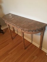 Pink Marble Hall Table in Tinley Park, Illinois
