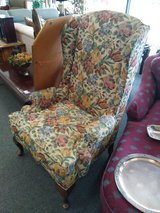 Wing Back Chair Flower Print in Naperville, Illinois