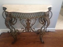 Antique French Wrought Iron and Marble Console Table in Conroe, Texas