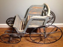 Historic Wood and Iron Carriage From John G Trump Estate in The Woodlands, Texas