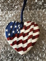 Longaberger Heart Shaped Flag All-American Tie-on in Glendale Heights, Illinois