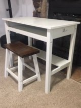 White desk and stool in Bolingbrook, Illinois