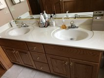 Bathroom vanity  with cultured marble top in Chicago, Illinois