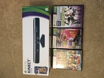 Xbox 360 Kinect with 3 Games in Algonquin, Illinois