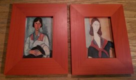 ART – Two Pictures of Exotic Ladies in Red Frames in Kingwood, Texas
