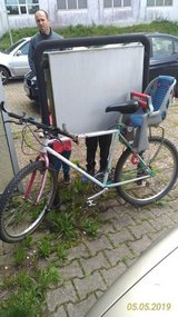 Bicycle with child seat in Ramstein, Germany