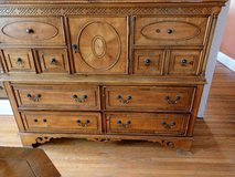 Headboard and footboard dresser and nightstand in New Lenox, Illinois