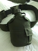 U.S.  G.I. belt and canteen with cover in Naperville, Illinois