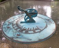 Brass Sundial - Hummingbird Art in Oswego, Illinois