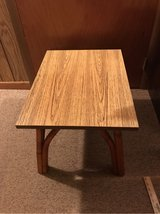 Wood & Bamboo End Table in Tinley Park, Illinois
