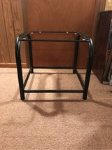 Black Metal Glass Top End Table in Tinley Park, Illinois