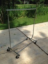 Rolling clothes rack in Conroe, Texas
