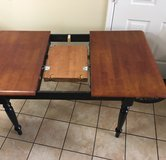Beautiful Wood Table-Seats 4-6 people, 4 chairs included in El Paso, Texas