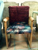 Chair, cloth covered in Alamogordo, New Mexico
