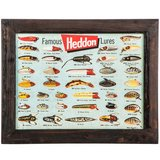 Brand New Heddon Famous Fishing Lures wood and metal Sign in Moody AFB, Georgia