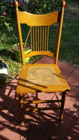 Hand caned oak chair in Beaufort, South Carolina
