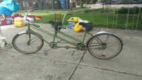 Tandem bike in Glendale Heights, Illinois