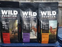4lb Wild Frontier Dog Food 3bags in Glendale Heights, Illinois