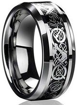 CLEARANCE***BRAND NEW***Celtic Dragon Titanium Men's Wedding Band*** in Houston, Texas