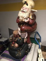 Santa decoration (approx. 4 ft tall) in Chicago, Illinois