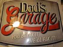 "Brand New ""Dads Garage"" metal sign in Moody AFB, Georgia"